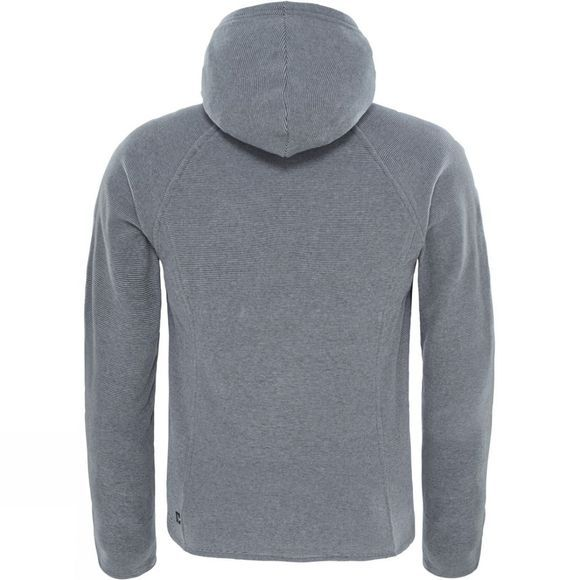 The North Face Girls Mezzaluna Full Zip Hoodie Mid Grey
