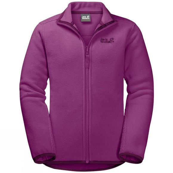 Jack Wolfskin Girls Arctic Wolf Fleece Dark Peony