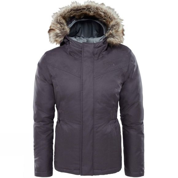The North Face Girls Greenland Down Parka Periscope Grey