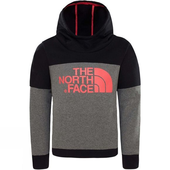 The North Face Girls Drew Peak Hoodie TNF Medium Grey Heather