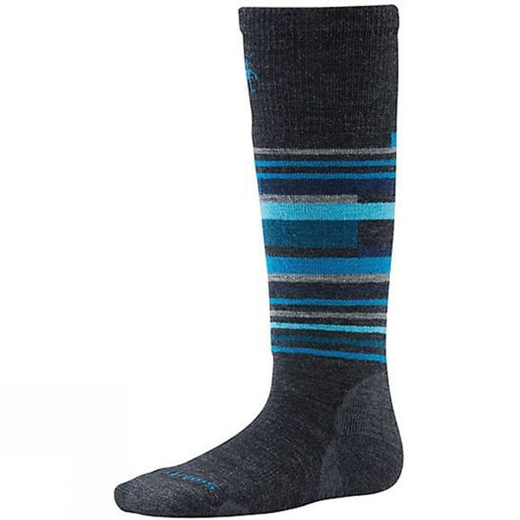 SmartWool Kids Wintersport Stripe Sock Dk Grey        /Lt Grey