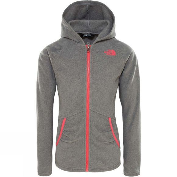 The North Face Girls Mezzaluna Full Zip Hoodie 14+ TNF Medium Grey Heather