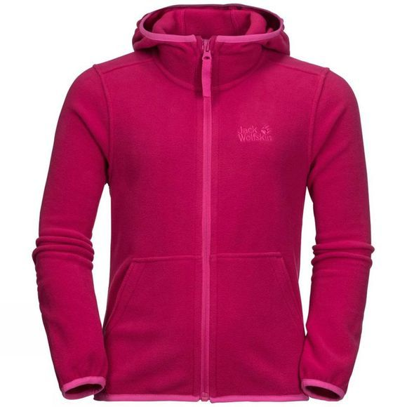 Jack Wolfskin Girls Kirkwood Jacket Azalea Red