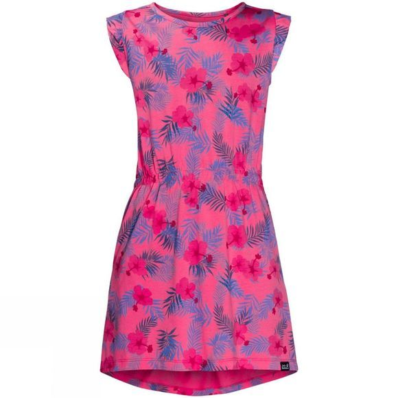 Jack Wolfskin Girls Yuba Dress Hot Pink All Over