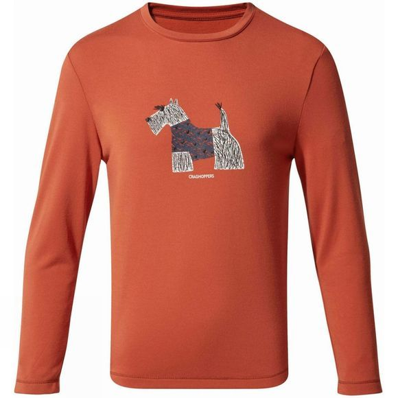 Craghoppers Girls 1st Layer Long Sleeve T-Shirt Warm Ginger
