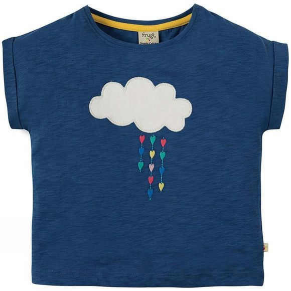 Frugi Girls Sophia Slup T-Shirt  Marine Blue/Cloud SS19