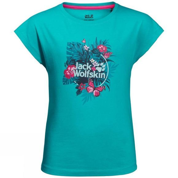 Jack Wolfskin Girls Tropical T-Shirt Aquamarine