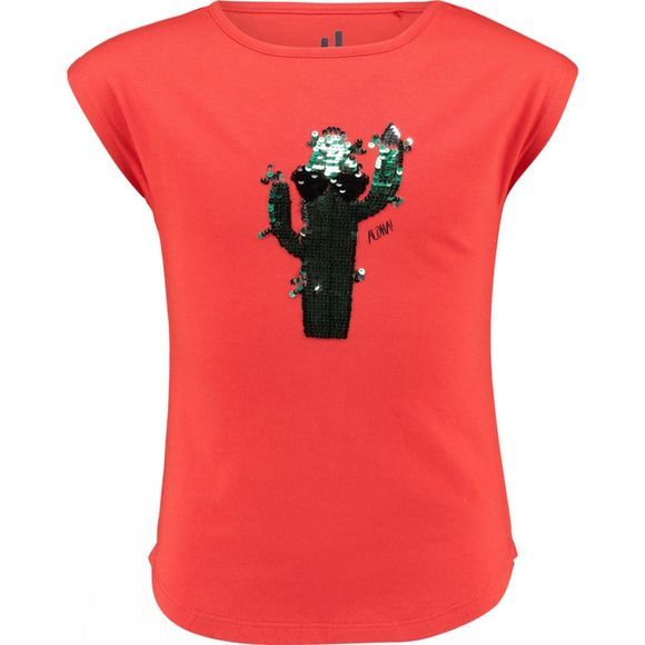 Ayacucho Girls Azure Cactus T-Shirt Red