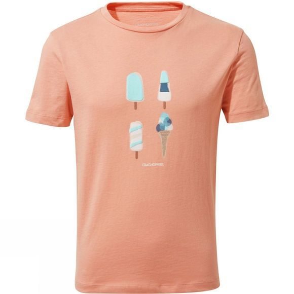 Craghoppers Girls Ravenna Tee Rosette Ice Cream