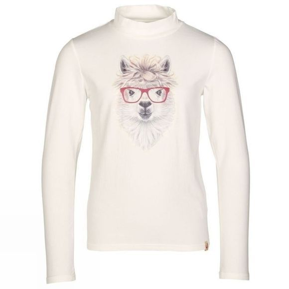 Ayacucho Zille Lama Long Sleeved Junior Tee Cloud Dancer
