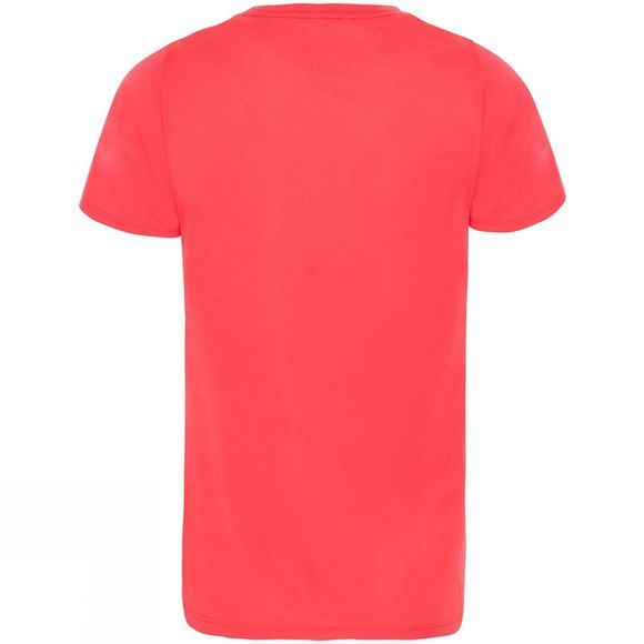The North Face Girls Reaxion Short Sleeve T-Shirt 14+ Atomic Pink