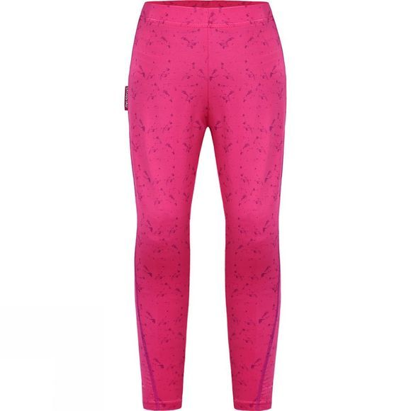 Skogstad Girls Vinje Sport Leggings Sharp Pink Print