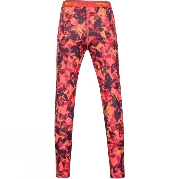 Marmot Girls Midweight Meghan Tight Living Coral Floral Camo