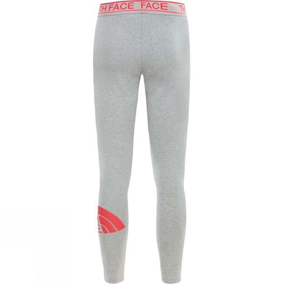 The North Face Girls Cotton Blended Leggings High Rise Grey