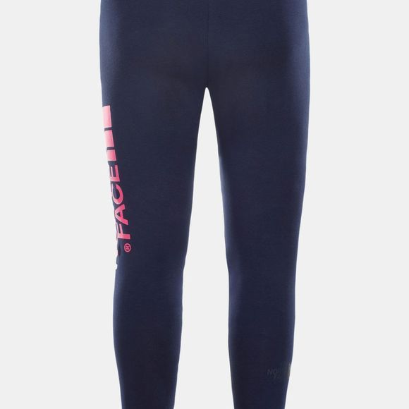 The North Face Girls Big Logo Leggings Montague Blue