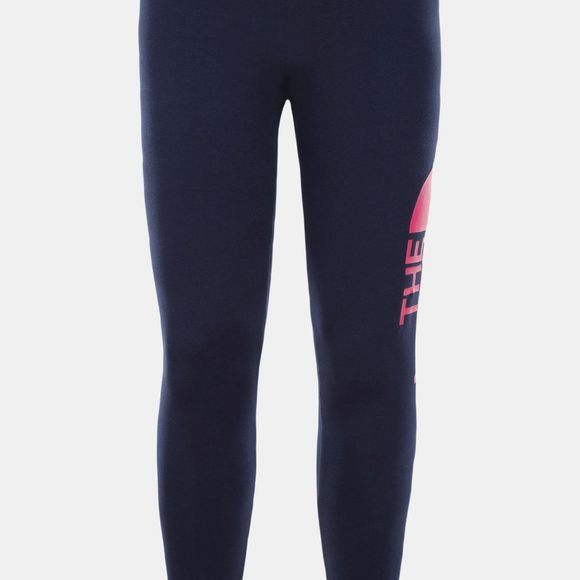 The North Face Girl's Big Logo Leggings Montague Blue