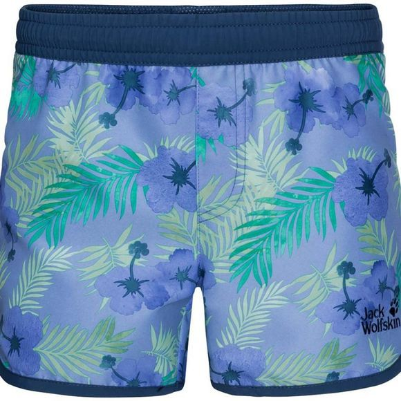 Jack Wolfskin Girls Yuba Shorts 14+ Pale Purple All Over