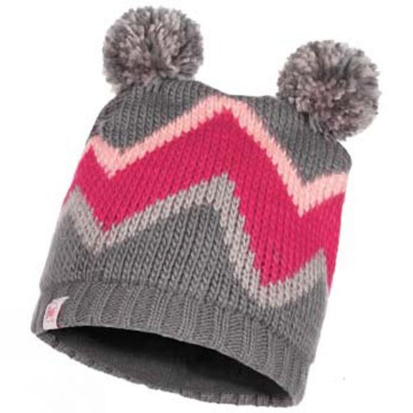 Buff Kids Arlid Knitted & Polar Fleece Hat Grey