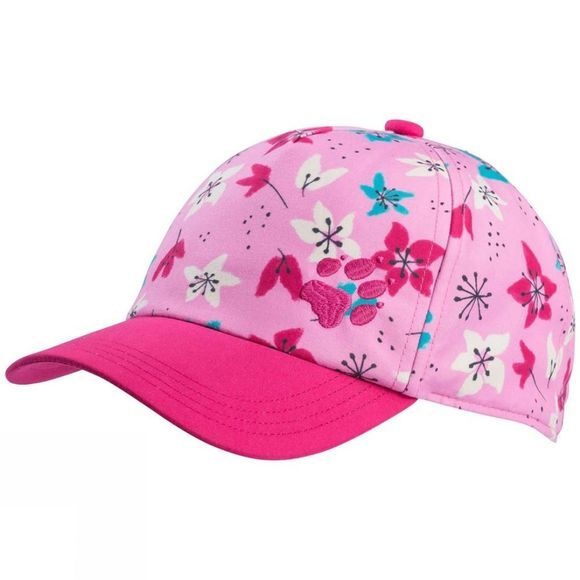 Jack Wolfskin Girls Splash Cap Pink Tulip Allover