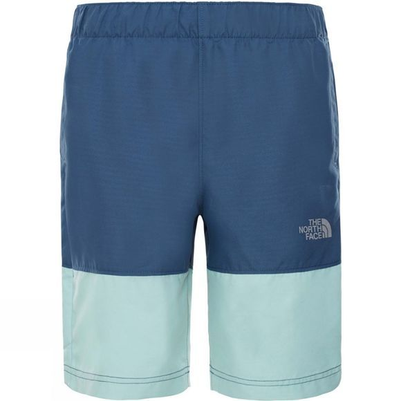 The North Face Boys Class V Swim Short Shady Blue Mountain Stripe Phantom Print