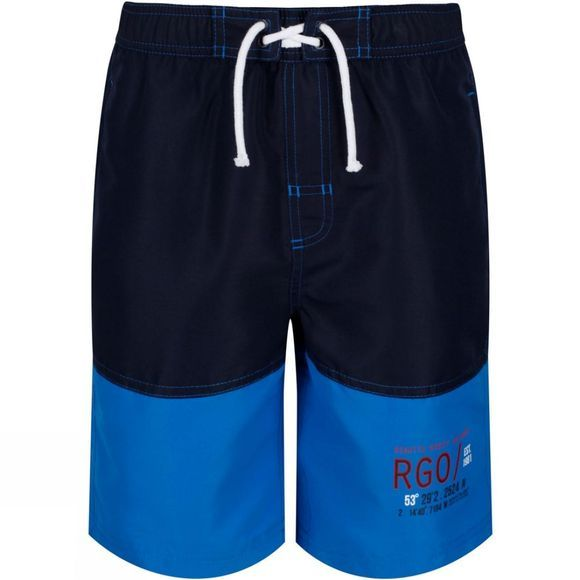 Regatta Childrens Shaul Swimming Shorts Navy/Oxford Blue