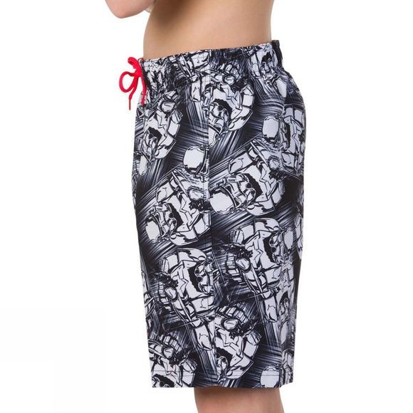 "Speedo Children's Star Wars Allover Watershort 17"" Black/White"