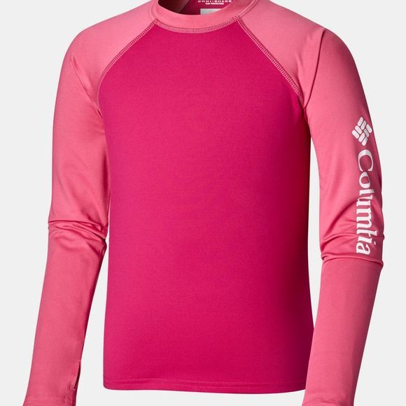 Columbia Boys Sandy Shores Long Sleeve Sunguard Top Haute Pink