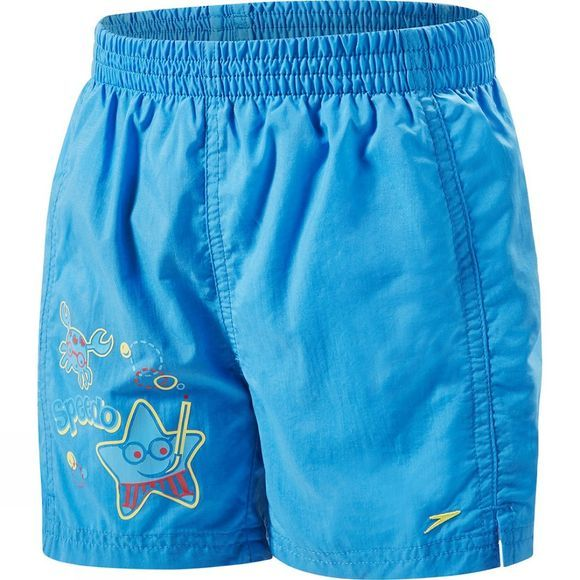 Speedo Kids Sea Squad 11in Watershort Neon Blue/ Lava Red