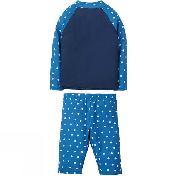 Frugi Girls Sun Safe Set  Marine Blue Polka Dot/Seagull SS19