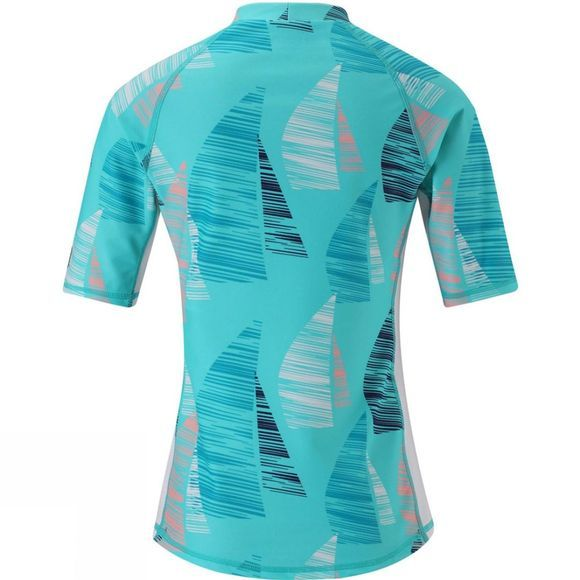 Reima Girls Ionian Swim Shirt Aqua Ship Print