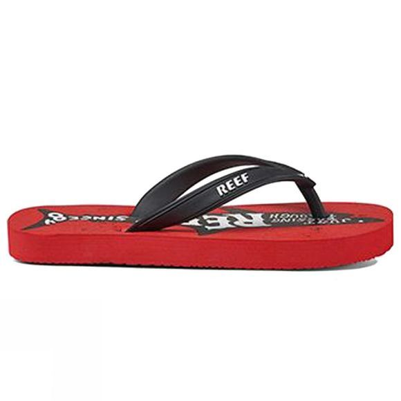 Reef Boy's Grom Switchfoot Print Red Shark