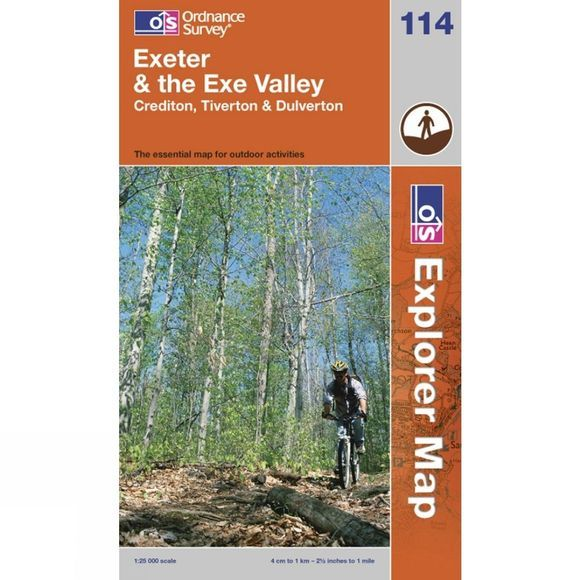 Ordnance Survey Explorer Map 114 Exeter and The Exe Valley .