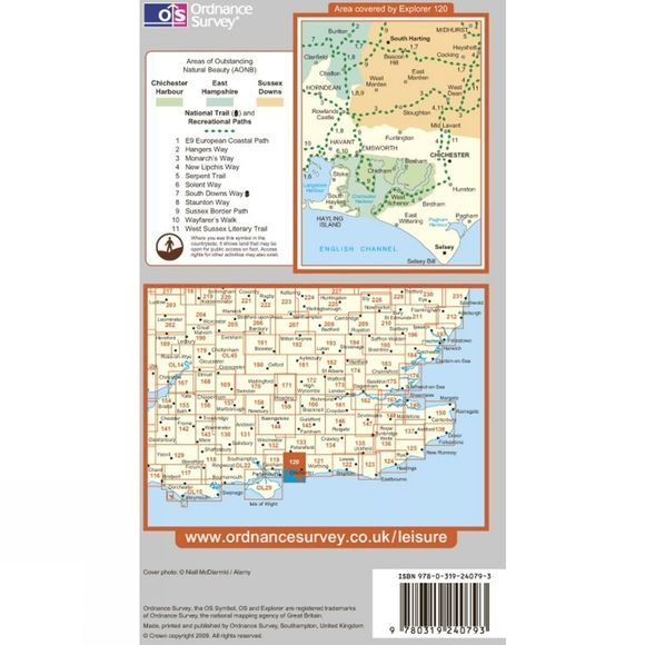 Explorer Map OL8 Chichester