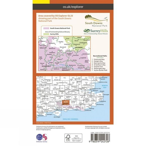 Explorer Map OL33 Haslemere and Petersfield