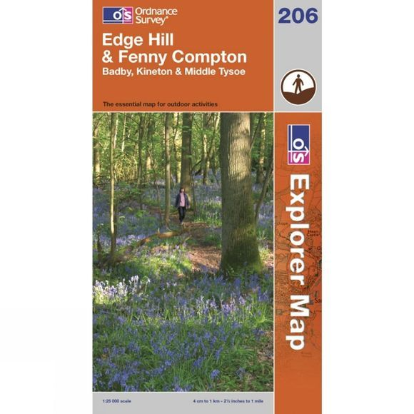 Ordnance Survey Explorer Map 206 Edge Hill and Fenny Compton .