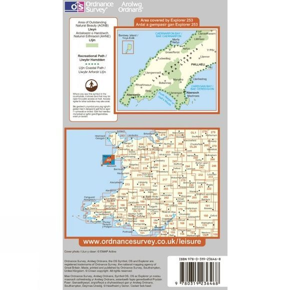 Explorer Map 253 Lleyn Peninsula West