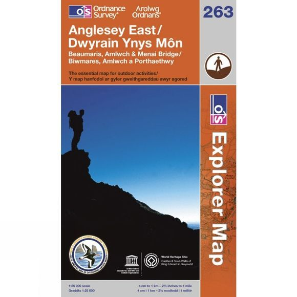 Ordnance Survey Explorer Map 263 Anglesey East .