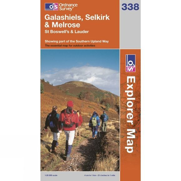 Ordnance Survey Explorer Map 338 Galashiels, Selkirk and Melrose .