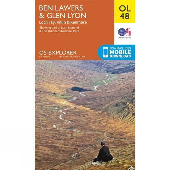 Ordnance Survey Explorer Map OL48 Ben Lawers and Glen Lyon V15