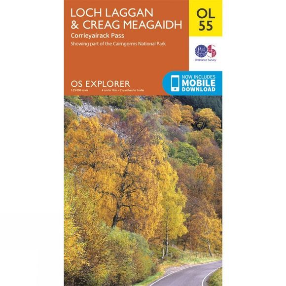 Ordnance Survey Explorer Map OL55 Loch Laggan and Creag Meagaidh V15