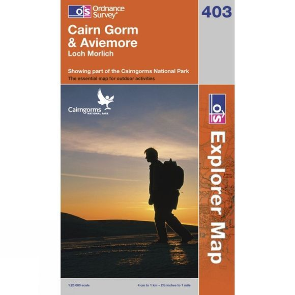 Ordnance Survey Explorer Map OL57 Cairn Gorm and Aviemore .