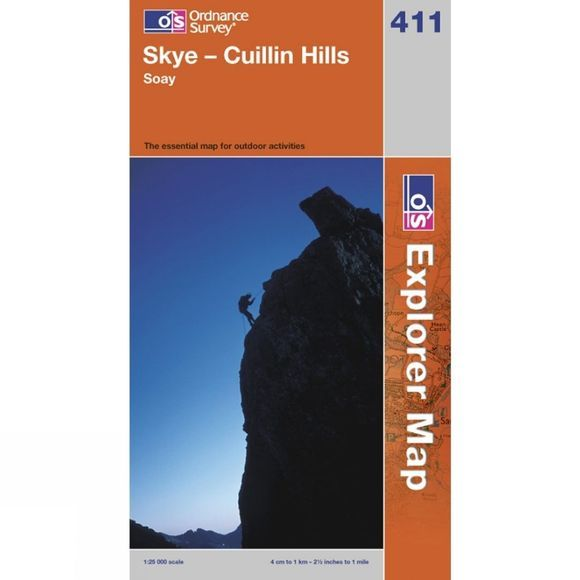 Ordnance Survey Explorer Map 411 Skye - Cuillin Hills .