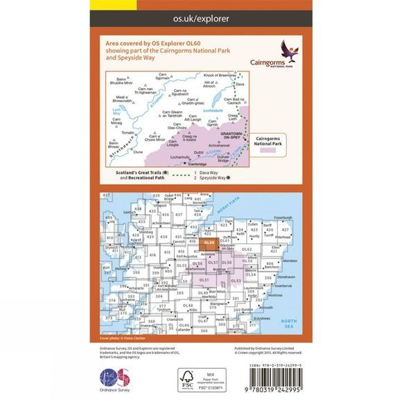 Explorer Map OL60 Lochindorb, Grantown-on-Spey and Carrbridge