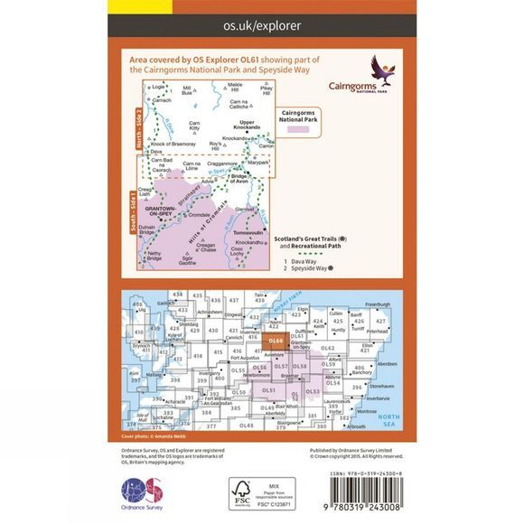 Explorer Map OL61 Grantown-on-Spey and Hills of Cromdale