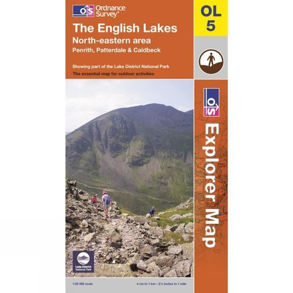 Ordnance Survey Explorer Map OL5 The Lake District - North-Eastern Area .