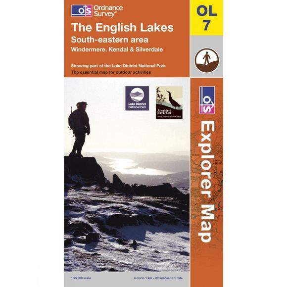 Ordnance Survey Explorer Map OL7 The Lake District - South-Eastern Area .