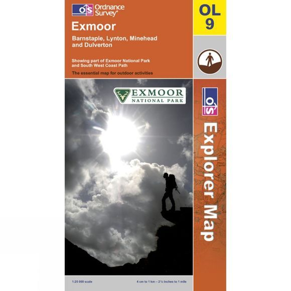 Ordnance Survey Explorer Map OL9 Exmoor .