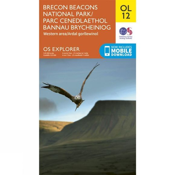 Ordnance Survey Explorer Map OL12 Brecon Beacons National Park - Western and Central Area V15