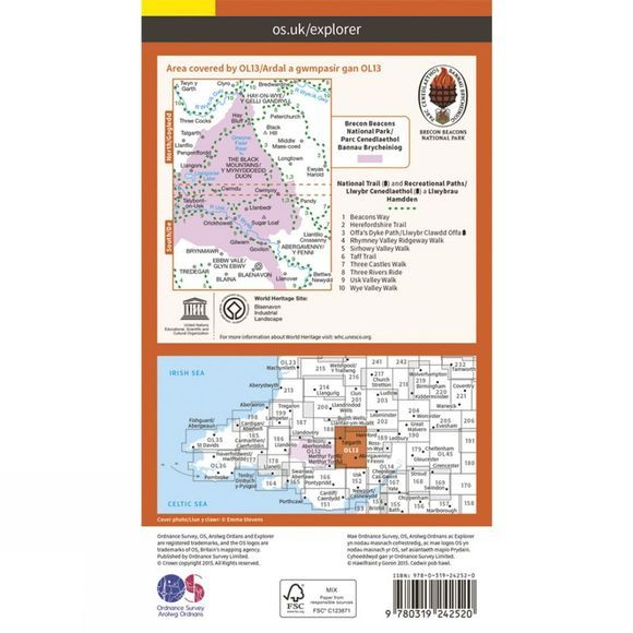 Explorer Map OL13 Brecon Beacons National Park - Eastern Area