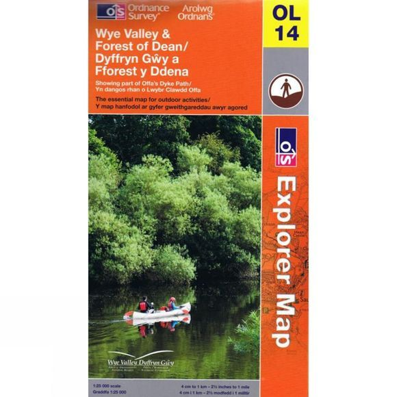 Explorer Map OL14 Wye Valley and Forest of Dean